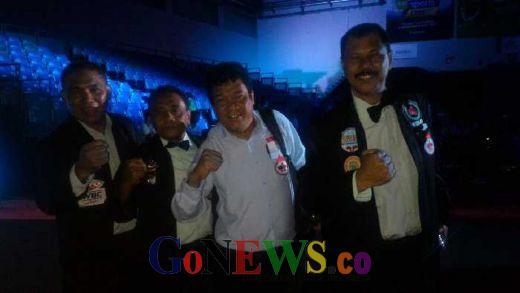 Empat Wasit atau Hakim Tinju Profesional Indonesia Pimpin Pertandingan di Singapura