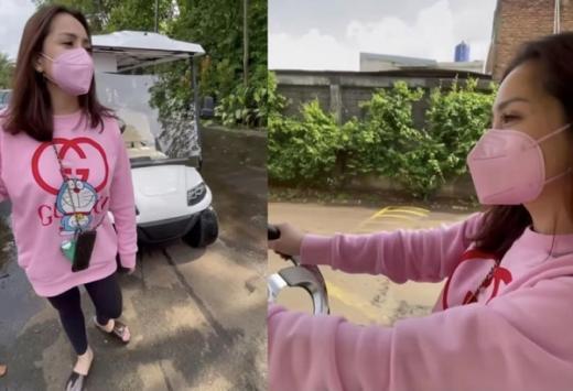 Nagita Slavina Belanja ke Warung Naik Mobil Golf, Netizen: Sultan Mah Bebas!