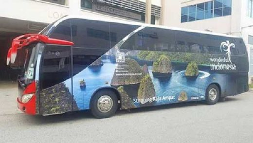 Indonesia Terlibat di Euro 2016 Paris, Bus Wonderful Indonesia Keliling Kota Selama Piala Eropa