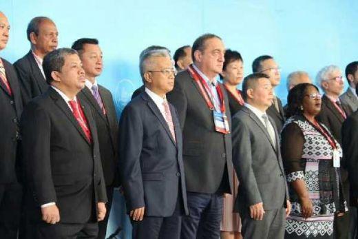 Fahri Hamzah Pidato di Depan 57 Negara Peserta Maritime Silk Road International Expo 2018 di Guangzhou