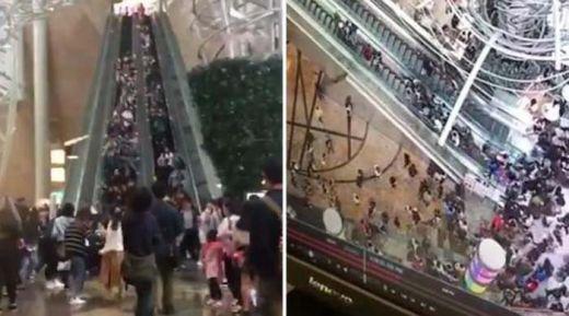Eskalator Mal Mendadak Berubah Arah, Belasan Orang Terluka