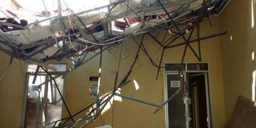 Astaga... Atap IGD RSUD Ambruk, 7 Perawat Terluka Ditimpa Reruntuhan