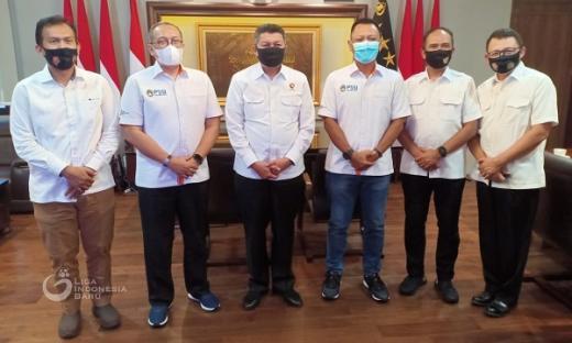 PT LIB Laporkan Persiapan Kepada Baintelkam Polri