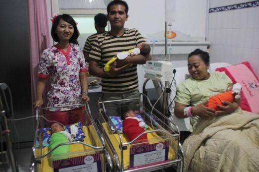 Sari Nuryani Lahirkan Bayi Kembar 4 di Awal Ramadhan