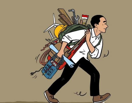 Presiden Jokowi Kok Seperti Kerja Sendiri, Kasihan Ya....