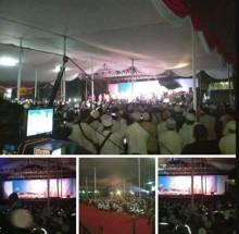 MPR Bersholawat Puluhan Ribu Jamaah Padati Halaman Nusantara I DPR