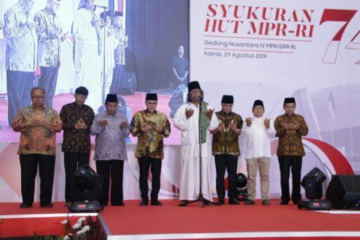 Dihadiri Tokoh Lintas Agama, Syukuran HUT MPR RI Berlangsung Khidmat