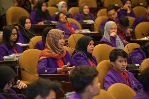 Perdalam Ilmu, Ratusan Mahasiswa FH Universitas Galuh Kunjungi MPR RI