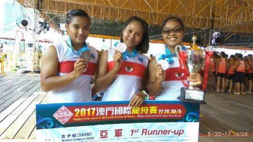Gagal Taklukkan China, Tim Dragon Boat Putri Raih Perak di Macao
