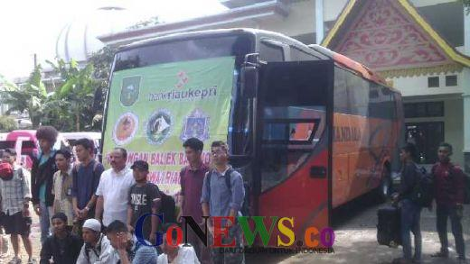 Baliek Basamo, 50 Pelajar dan Mahasiswa Hari Ini Dilepas Kaban Penghubung Riau Jakarta
