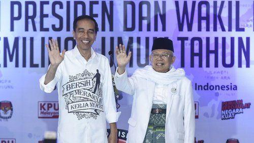 Jokowi dan Maruf Amin ke KPU dari Istana, Prabowo?