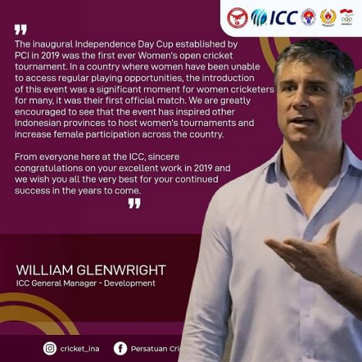 Kembangkan Cricket Perempuan, PP PCI Raih ICC Global Development Awards 2019