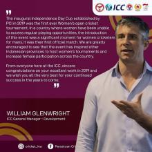 Kembangkan Cricket Perempuan, PP PCI Raih ICC Global Development Awards 2019