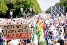 Demonstrasi Anti-Corona Menyebar di Eropa