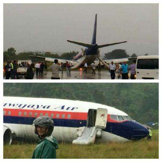 Sriwijaya Air Tergelincir di Bandara Rendani, 146 Penumpang Selamat